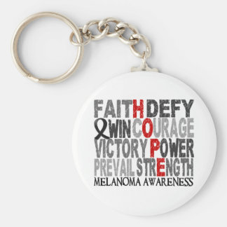 Hope Word Collage Melanoma Keychains