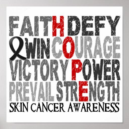 Hope Word Collage Skin Cancer Print