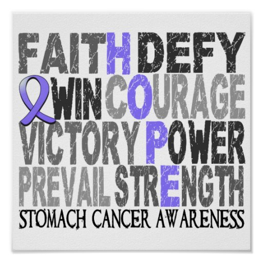 Hope Word Collage Stomach Cancer Print