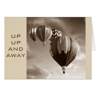 HOPE YOU *SOAR* ON YOUR BIRTHDAY-HOT AIR BALLOONS CARD