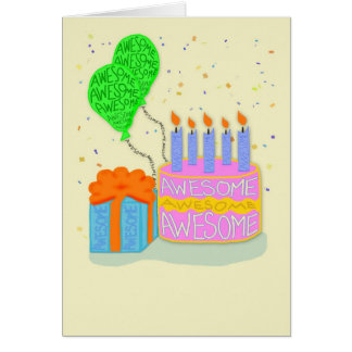 Hope Your Birthday is Made of Awesome Card