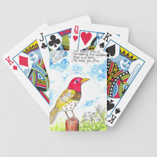 Hopeful bird bicycle playing cards