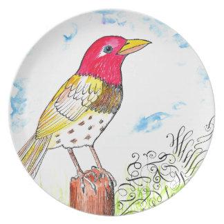 Hopeful bird plate