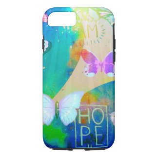 Hopes and Dreams pastel butterfly iPhone 7 case