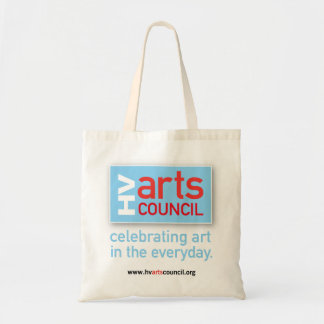 Hopewell Valley Arts Council logo tote bag