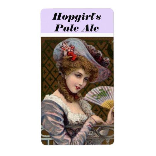 Hopgirl Hopgirl's Pale Ale Pretty Woman Beer Label Shipping Label
