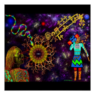 Hopi Blue Star Poster