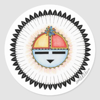 Hopi Dawa (Sun) Classic Round Sticker