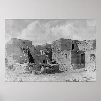 Hopi (Moqui) Indians Snake Kiva Oraibi Pueblo Poster