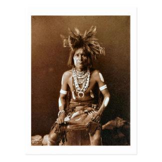 Hopi Snake Priest ca. 1900 Postcard