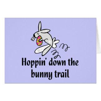 Hoppin' Down The Bunny Trail Card
