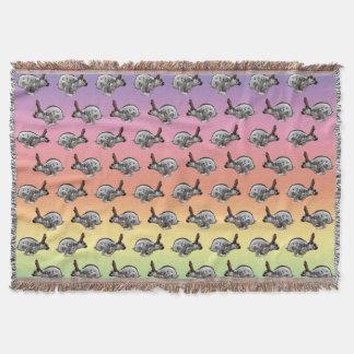 Hopping Along Frenzy Throw Blanket (Rainbow)