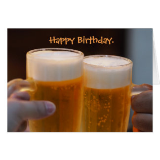 Hoppy Beerthday Beer Birthday Card