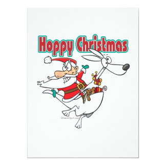 hoppy christmas santa hopping kangaroo custom invite