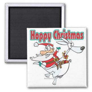 hoppy christmas santa hopping kangaroo magnet