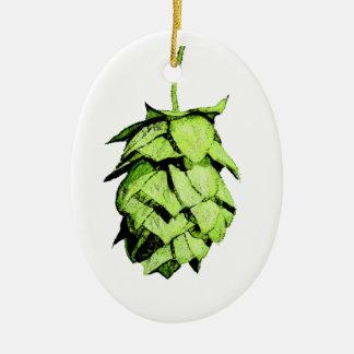 Hoppy Christmas to You! Hop Ceramic Ornament