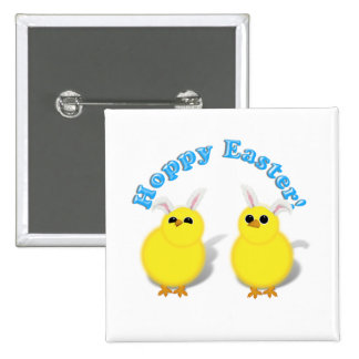 HOPPY EASTER Baby Chicks w Bunny Ears Buttons