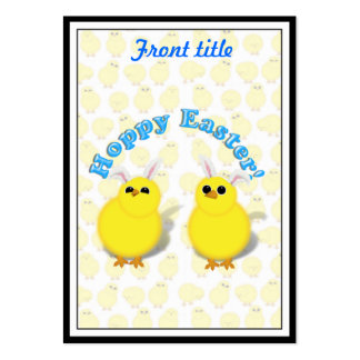 HOPPY EASTER!  Baby Chicks w/Bunny Ears Business Cards