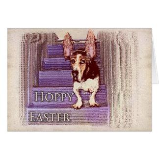 Hoppy Easter basset card