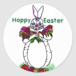 HOPPY EASTER BUNNY stickers