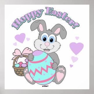 Hoppy Easter! Easter Bunny Poster