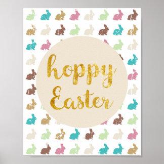 Hoppy Easter Pring Poster