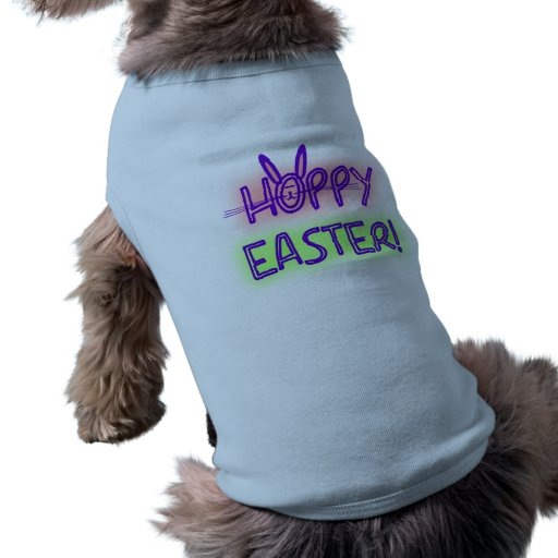 Hoppy Easter With Bunny Face & Ears Pet Tshirt