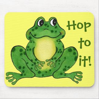 """""""Hoppy Frog"""" - Hop to it Mousepad"""