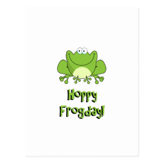 Hoppy Frogday! Happy Friday Frog Postcard