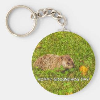 Hoppy Groundhog Day! keychain