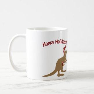 Hoppy Holidays! christmas Kangaroo Coffee Mug