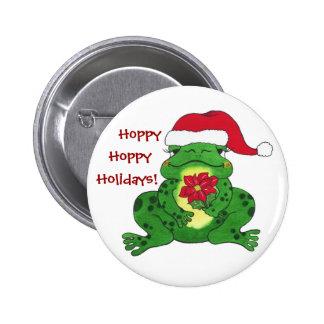 Hoppy Holidays Frog - Customizable Pin