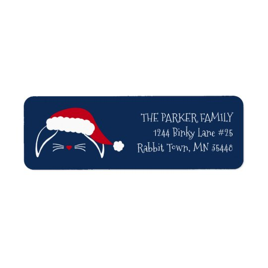 Hoppy Holidays Rabbit Return Address Label