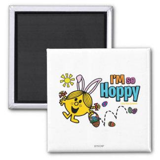 Hoppy Little Miss Sunshine 2 Inch Square Magnet