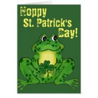 Hoppy St. Patrick's Day - Hoppy Frog Card