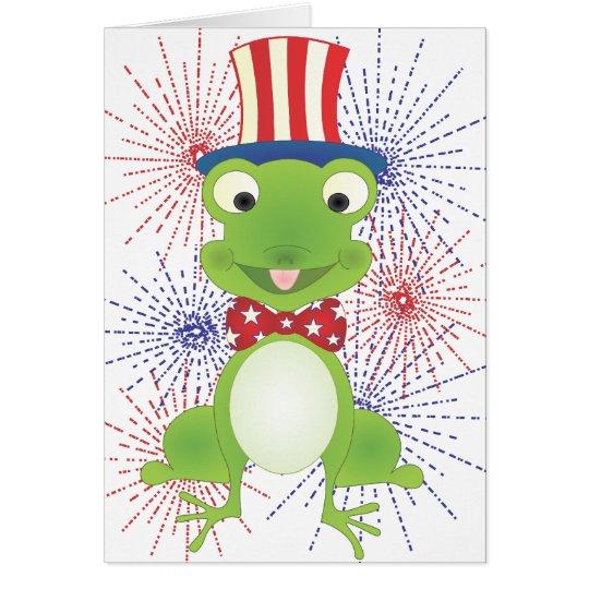 Hoppy the Frog Card