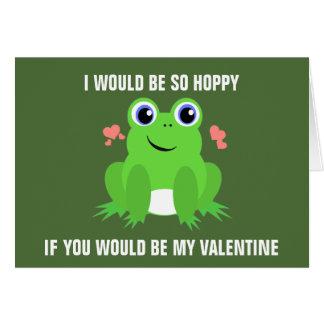 Hoppy Valentine's Day Greeting Card
