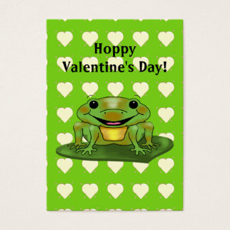 Hoppy Valentine's Day Kids Valentine's Day Business Card