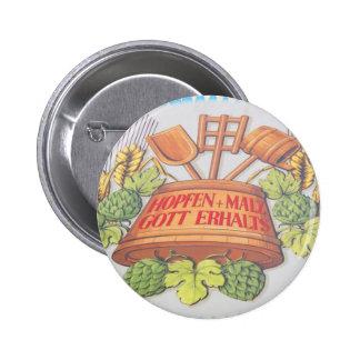 Hops and Malt 6 Cm Round Badge
