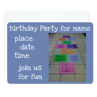 HOPSCOTCH GAME *****CHILD'S PARTY INVITATION***** CARD