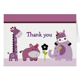 Hopscotch Jungle Thank You Note Cards