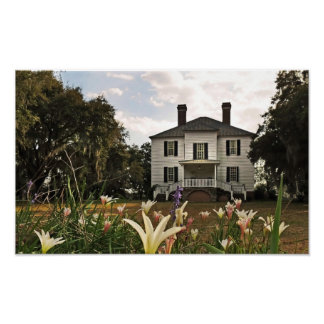 Hopsewee Plantation House in Winter Poster