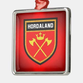 Hordaland Flag Metal Ornament