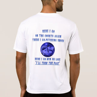 "HoreShoe Pitching Tee  ""HERE I GO AGAIN """