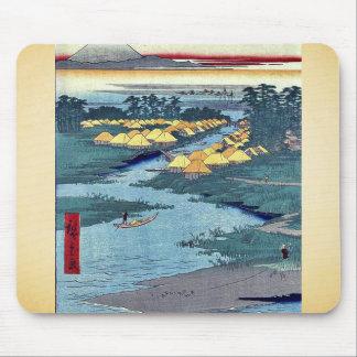 Horie and Nekozane by Ando, Hiroshige Ukiyoe Mousepad