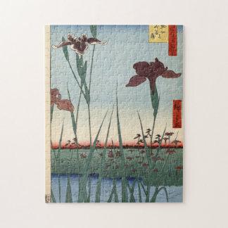 Horikiri Iris Garden. Jigsaw Puzzle