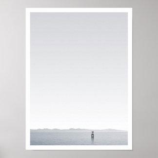 """Horizon"" -  Black & white photography Poster"
