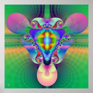 Horizon Dimensions. poster print fractal 3d chromo