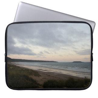 Horizon of Gower Beach Laptop Sleeve