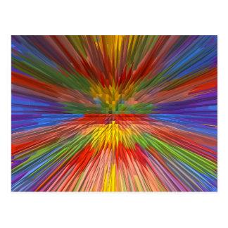 HORIZON Rainbow Colorful Stripe Romantic Gifts fun Postcard